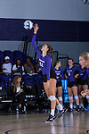 Carly Jimenez (11) of the High Point Panthers serves the ball during the match against the Liberty Flames at the Millis Athletic Center on September 23, 2016 in High Point, North Carolina.  The Panthers defeated the Flames 3-1.   (Brian Westerholt/Sports On Film)