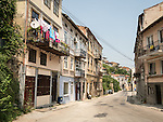 Along the historic streets of Veliko Tarnovo, Bulgaria<br /> <br /> Drying laundry on a balcony.