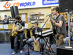 Shadowplay performing at the Record Store day at CD World in the Drogheda Town Centre. Photo: Colin Bell/pressphotos.ie