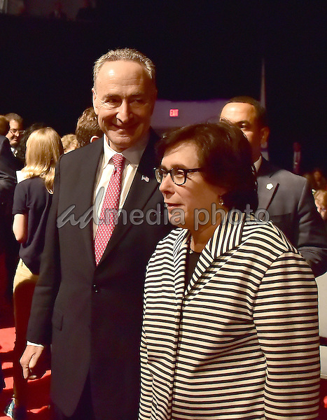 United States Senator Chuck Schumer (Democrat of New York) arrives prior to the debate between former US Secretary of State Hillary Clinton, the Democratic Party nominee for President of the US and businessman Donald J. Trump, the Republican Party candidate for President of the US, aat Hofstra University in Hempstead, New York on Monday, September 26, 2016. Photo Credit: Ron Sachs/CNP/AdMedia