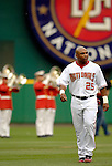 14 June 2006: Marlon Byrd, outfielder for the Washington Nationals, walks off the field  prior to a game against the Colorado Rockies in Washington, DC. The Rockies defeated the Nationals 14-8 in front of 24,273 fans at RFK Stadium...Mandatory Photo Credit: Ed Wolfstein Photo...