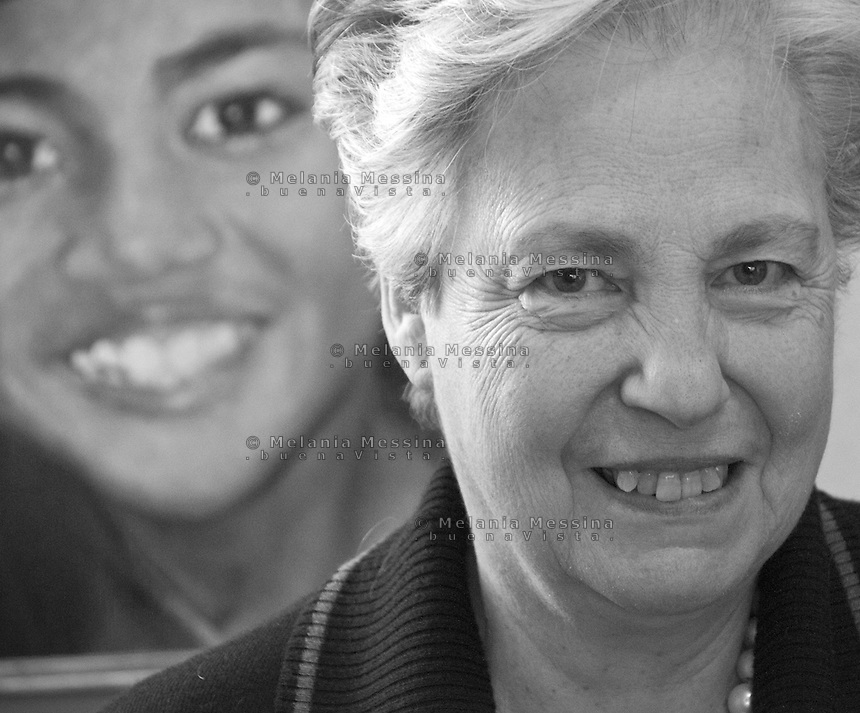 Palermo, Rita Borsellino, sister of the antimafia judge Paolo Borsellino killed by mafia, now she is the actual official centre left candidate for mayor for Palermo, together with the..Palermo, Rita Borsellino, attualmente candidata a sindaco di Palermo sostenuta dal PD e dal SEL.