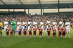13 July 2015: United States starters. From left: Michael Bradley (USA), Brad Guzan (USA), Ventura Alvarado (USA), Chris Wondolowski (USA), Gyasi Zardes (USA), Fabian Johnson (USA), Alejandro Bedoya (USA), John Brooks (USA), Alfredo Morales (USA), Timmy Chandler (USA), Kyle Beckerman (USA). The United States Men's National Team played the Panama Men's National Team at Sporting Park in Kansas City, Kansas in a 2015 CONCACAF Gold Cup Group A match.