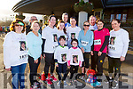 Running in memory of Maureen Harris at the Optimal Fitness 5 and 10 k run at the Rose Hotel on Monday.<br /> Front l-r, Oran and Amy Siles.<br /> Standing l-r, Mary Quinn, Andy O'Connell, Mary and Kayleigh Williams, John Ferguson, Trease Williams, Breda Doyle, John O'Connell, Susan Doyle and Paula Siles.