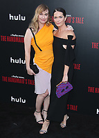 """HOLLYWOOD, CA - APRIL 19:   Sydney Sweeney and Katie Aselton at the premiere Of Hulu's """"The Handmaid's Tale"""" Season 2 at TCL Chinese Theatre on April 19, 2018 in Hollywood, California. (Photo by Scott KirklandPictureGroup)"""