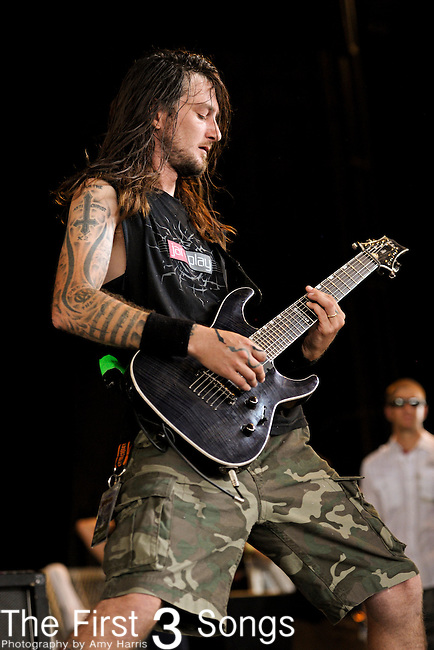 Kris Norris of Straight Line Stitch performs during the 2011 Rockstar Energy Drink Mayhem Festival on July 20, 2011 at Riverbend Music Center in Cincinnati, Ohio.