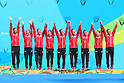 Japan team group (JPN), <br /> AUGUST 19, 2016 - Synchronized Swimming : <br /> Teams Medal Ceremony <br /> at Maria Lenk Aquatic Centre <br /> during the Rio 2016 Olympic Games in Rio de Janeiro, Brazil. <br /> (Photo by Yohei Osada/AFLO SPORT)