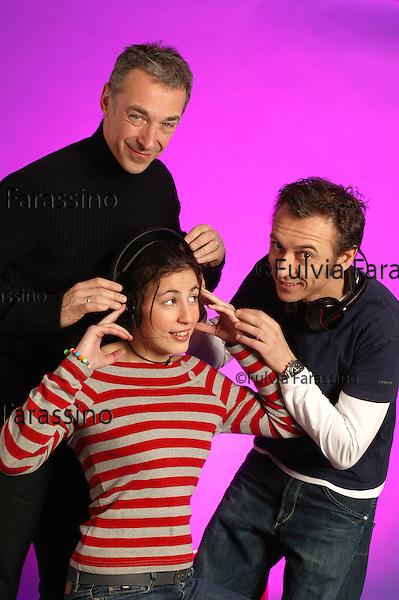 Milano,30 gennaio 2004.Albertino e Linus, radio DeeJay