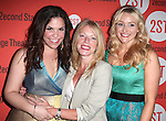 Lindsey Mendez, Sherie Rene Scott and Betsy Wolfe  .attending the after Party for Off-Broadway Opening Night Performance of Second Stage Theatre's 'Dogfight' at HB Burger in New York City.