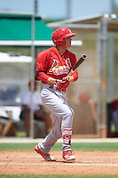 GCL Cardinals designated hitter Jonathan Murders (27) at bat during the second game of a doubleheader against the GCL Marlins on August 13, 2016 at Roger Dean Complex in Jupiter, Florida.  GCL Cardinals defeated GCL Marlins 2-0.  (Mike Janes/Four Seam Images)