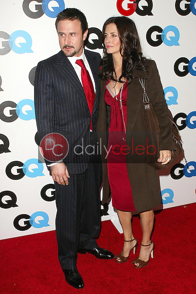 """David Arquette and Courteney Cox<br />at the GQ Magazine's 10th Anniversary """"Men of the Year"""" Issue Release Party, Mr. Chow's, Beverly Hills, CA 12-01-05<br />Jason Kirk/DailyCeleb.com 818-249-4998"""