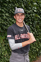 Ben Ramirez (2) of Eastlake High School in Chula Vista, California poses for a photo before the Under Armour All-American Game presented by Baseball Factory on July 23, 2016 at Wrigley Field in Chicago, Illinois.  (Mike Janes/Four Seam Images)