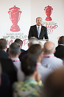 Picture by Charlie Forgham-Bailey/SWpix.com 13/07/2017 - International Rugby League - Rugby League World Cup 2021 - RLWC2017 Presentation at ALTITUDE LONDON, SKYLOFT Millbank Tower, London - Dave Woods