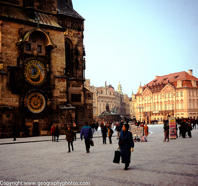 Old Town Square with Tyn church and astronomical clock, Prague, Czech Republic