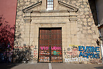 Tags On Iglesia de San Francisco, Santiago de Chile