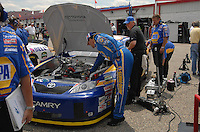 Apr 27, 2007; Talladega, AL, USA; Nascar Nextel Cup Series driver Michael Waltrip (55) during practice for the Aarons 499 at Talladega Superspeedway. Mandatory Credit: Mark J. Rebilas