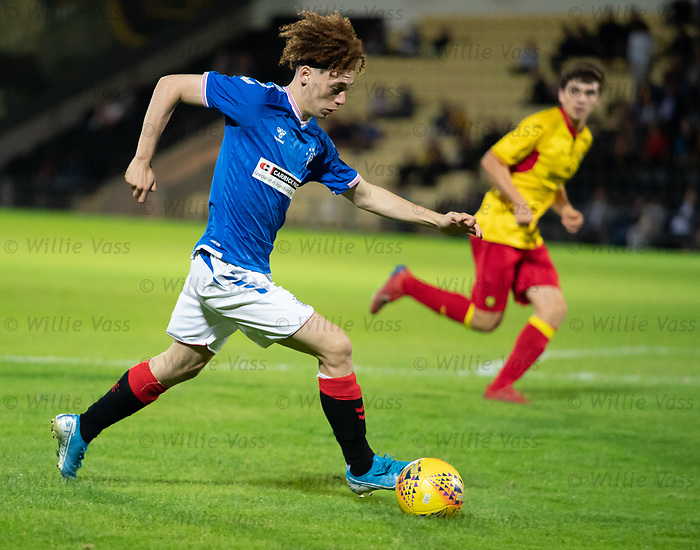 26.08.2019 Rangers Colts v Partick Thistle: Nathan Young-Coombes