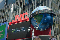 JVC advertising is pictured on Times Square in the New York City borough of Manhattan, NY, Tuesday August 2, 2011.