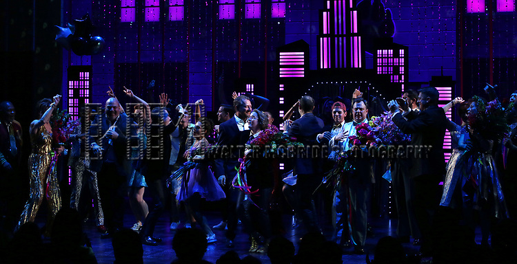 """The cast and creative team during the Broadway Opening Night Curtain Call of """"The Prom"""" at The Longacre Theatre on November 15, 2018 in New York City."""