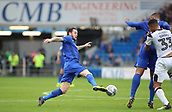 30th September 2017, Cardiff City Stadium, Cardiff, Wales; EFL Championship football, Cardiff City versus Derby County; Lee Tomlin of Cardiff City attempts to control the ball as it goes out of reach