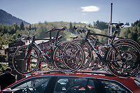 roof-racked Ridleys<br /> <br /> Stage 18: Moena &rsaquo; Ortisei/St. Urlich (137km)<br /> 100th Giro d'Italia 2017