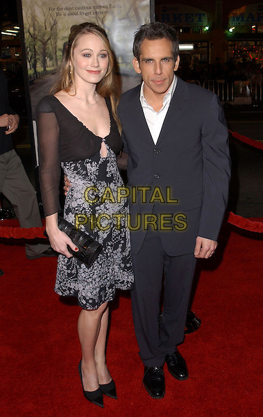 BEN STILLER & WIFE CHRISTINE TAYLOR.Universal Pictures World Premiere of Along Came Polly held at the Grauman's Chinese Theater .*UK Sales Only*.12 January 2004.www.capitalpictures.com.sales@capitalpictures.com.©Capital Pictures.