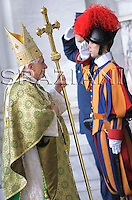 worldwide meeting of bishops ,Pope Benedict XVI celebrates a Mass in the Basilica of St. Paul Outside the Walls in Rome, Sunday, Oct. 5, 2008 to open a worldwide meeting of bishops on the relevance of the Bible for contemporary Catholics.
