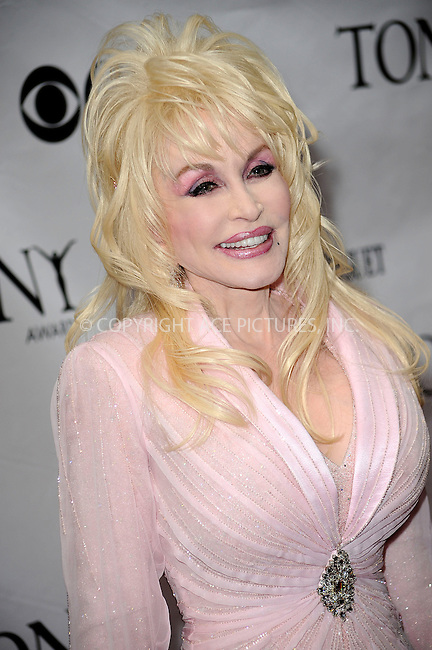 WWW.ACEPIXS.COM . . . . .  ....June 7 2009, New York City....Singer Dolly Parton at the 63rd Annual Tony Awards at Radio City Music Hall on June 7, 2009 in New York City.....Please byline: KRISTIN CALLAHAN -  ACE PICTURES.... *** ***..Ace Pictures, Inc:  ..tel: (212) 243 8787 or (646) 769 0430..e-mail: info@acepixs.com..web: http://www.acepixs.com