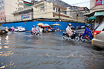 Heavy Rain & Flooding In Downtown Phnom Penh