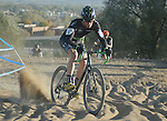 October 17, 2015 - Boulder, Colorado, U.S. - Elite men's cyclist, Mike Friedberg, works his way through a difficult sandy pitch during the U.S. Open of Cyclocross, Valmont Bike Park, Boulder, Colorado.