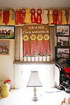 CHAD PILSTER &bull;&nbsp;Hays Daily News<br /> <br /> Some of the awards won hang on the wall on Monday, June 3, 2013, at the Blue Sky Miniature Horse Farm in Hays, Kansas. Red is typically second place, yellow is third, white is fourth and blue is first. Hays Rec took a group of kids out to the farm to learn about some of the smallest horses in Kansas.