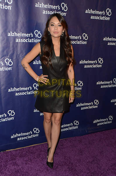 BEVERLY HILLS, CA: MARCH 9: Janel Parrish at the 24th and final 'A Night at Sardi's' to benefit the Alzheimer's Association at The Beverly Hilton Hotel on March 9, 2016 in Beverly Hills, California. <br /> CAP/MPI/DE<br /> &copy;DE//MPI/Capital Pictures