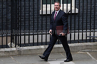 Liam Fox MP (Secretary of State for International Trade and President of the Board of Trade).<br /> <br /> London, 12/06/2017. Today, Theresa May's reshuffled Cabinet met at 10 Downing Street after the General Election of the 8 June 2017. Philip Hammond MP - not present in the photos - was confirmed as Chancellor of the Exchequer. <br /> After 5 years of the Coalition Government (Conservatives &amp; Liberal Democrats) led by the Conservative Party leader David Cameron, and one year of David Cameron's Government (Who resigned after the Brexit victory at the EU Referendum held in 2016), British people voted in the following way: the Conservative Party gained 318 seats (42.4% - 13,667,213 votes &ndash; 12 seats less than 2015), Labour Party 262 seats (40,0% - 12,874,985 votes &ndash; 30 seats more then 2015); Scottish National Party, SNP 35 seats (3,0% - 977,569 votes &ndash; 21 seats less than 2015); Liberal Democrats 12 seats (7,4% - 2,371,772 votes &ndash; 4 seats more than 2015); Democratic Unionist Party 10 seats (0,9% - 292,316 votes &ndash; 2 seats more than 2015); Sinn Fein 7 seats (0,8% - 238,915 votes &ndash; 3 seats more than 2015); Plaid Cymru 4 seats (0,5% - 164,466 votes &ndash; 1 seat more than 2015); Green Party 1 seat (1,6% - 525,371votes &ndash; Same seat of 2015); UKIP 0 seat (1.8% - 593,852 votes); others 1 seat. <br /> The definitive turn out of the election was 68.7%, 2% higher than the 2015.<br /> <br /> For more info about the election result click here: http://bbc.in/2qVyNRd &amp; http://bit.ly/2s9ob51<br /> <br /> For more info about the Cabinet Ministers click here: https://goo.gl/wmRYRd