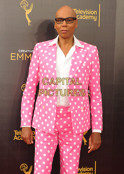 LOS ANGELES, CA - SEPTEMBER 11: RuPaul at the 2016 Creative Arts Emmys at the Microsoft Theater on September 11, 2016 in Los Angeles, California. <br /> CAP/MPI99<br /> &copy;MPI99/Capital Pictures