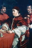 Paintings:  Raffaello--Leone X.  Galleria Uffizi, Florence.  Reference only.