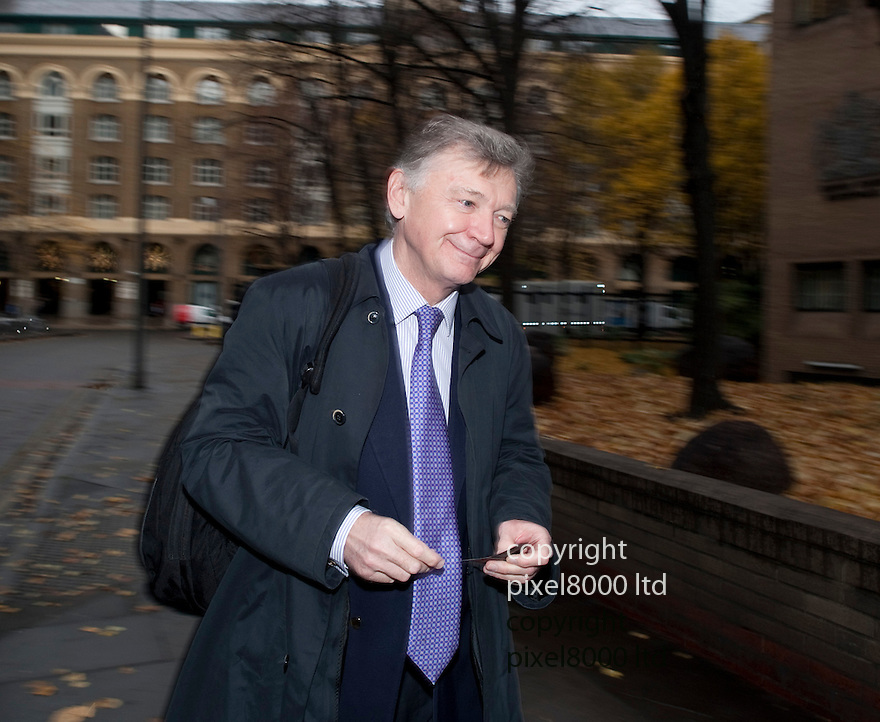Paul Garlick QC arrives the defending barrister in Kweku (aka Kwaku) Adoboli  case arrives at Southwark Crown Court today Tuesday 20.11.12.Former UBS trader is on fraud charges running into  billions of pounds. Mr Adoboli who is accused of ?fraudulently gambling? away $2.3bn from the Swiss bank. Mr Adoboli denies two charges of false accounting and two charges of fraud by abuse of position.....Pic by Gavin Rodgers/Pixel 8000 Ltd   25.9.12