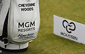 30th September 2017, Windross Farm, Auckland, New Zealand; LPGA McKayson NZ Womens Open, third round;  Cheyenne Woods' bag at the 1st tee
