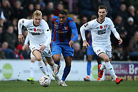 Tyrique Hyde of Maldon evades Josh Wright of Leyton Orient during Leyton Orient vs Maldon & Tiptree, Emirates FA Cup Football at The Breyer Group Stadium on 10th November 2019
