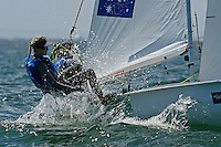 470 / Carrie SMITH -Jaime RYAN (AUS)<br /> ISAF Sailing World Cup Final - Melbourne<br /> St Kilda sailing precinct, Victoria<br /> Port Phillip Bay Tuesday 6 Dec 2016<br /> &copy; Sport the library / Jeff Crow