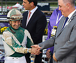 November 2, 2019: Connections for Blue Prize, winner of the Longines Breeders' Cup Distaff on Breeders' Cup World Championship Saturday at Santa Anita Park on November 2, 2019: in Arcadia, California. Bill Denver/Eclipse Sportswire/CSM
