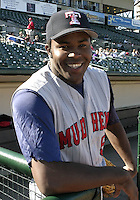 May 30, 2004:  Pitcher Franklyn German of the Toledo Mudhens during a game at Frontier Field in Rochester, NY.  The Mudhens are the Triple-A International League affiliate of the Detroit Tigers.  Photo By Mike Janes/Four Seam Images