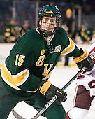 Michael Paliotta (Vermont - 15) - The University of Massachusetts (Amherst) Minutemen defeated the University of Vermont Catamounts 3-2 in overtime on Saturday, January 7, 2012, at Fenway Park in Boston, Massachusetts.