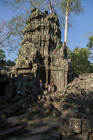 March 31, 2014 - Siem Reap. Visiting Ta Prohm temple. © Thomas Cristofoletti / Ruom for Tiger Airways Magazine