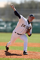 February 28, 2010:  Pitcher Todd Miller of the Notre Dame Fighting Irish during the Big East/Big 10 Challenge at Raymond Naimoli Complex in St. Petersburg, FL.  Photo By Mike Janes/Four Seam Images