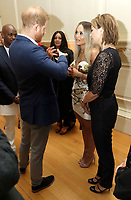 Prince Harry Duke of Cambridge speaks to Rita Ora and her mum Vera Sahatciu during a reception for the concert hosted by his charity Sentebale at Hampton Court Palace, in London. The concert will raise funds and awareness for Sentebale, the charity founded by Prince Harry and Lesotho's Prince Seeiso in 2006, to support children and young people affected by HIV and AIDS in Lesotho, Botswana and Malawi. Photo Credit: ALPR/AdMedia