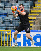 Blackpool's Mark Howard during the pre-match warm-up<br /> <br /> Photographer Chris Vaughan/CameraSport<br /> <br /> The EFL Sky Bet League One - Rochdale v Blackpool - Wednesday 26th December 2018 - Spotland Stadium - Rochdale<br /> <br /> World Copyright &copy; 2018 CameraSport. All rights reserved. 43 Linden Ave. Countesthorpe. Leicester. England. LE8 5PG - Tel: +44 (0) 116 277 4147 - admin@camerasport.com - www.camerasport.com