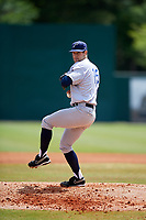 Pensacola Blue Wahoos starting pitcher Austin Ross (15) delivers a pitch during a game against the Mobile BayBears on April 26, 2017 at Hank Aaron Stadium in Mobile, Alabama.  Pensacola defeated Mobile 5-3.  (Mike Janes/Four Seam Images)