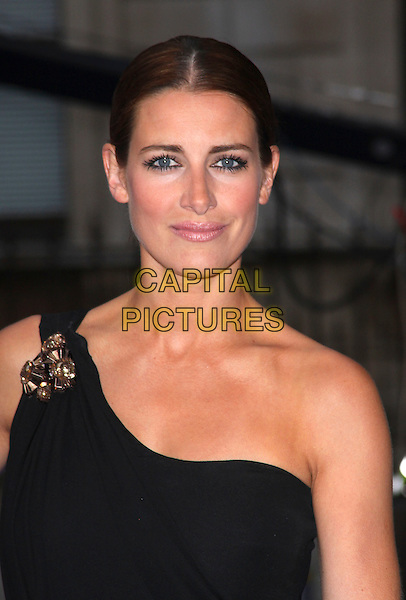 KIRSTY GALLACHER .Royal Academy of Arts Summer Exhibition Preview Party at the Royal Academy, Piccadilly, London, England. June 3rd, 2009..portrait headshot black one shoulder hair up brooch embellished bronzer .CAP/AH.©Adam Houghton/Capital Pictures