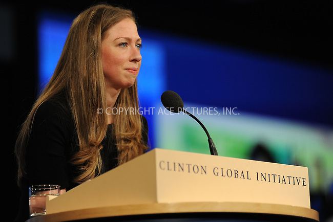 WWW.ACEPIXS.COM<br /> September 29, 2015 New York City<br /> <br /> Chelsea Clinton attending the CGI Annual Meeting on September 29, 2015 in New York City.<br /> <br /> Credit: Kristin Callahan/ACE Pictures<br /> <br /> Tel: (646) 769 0430<br /> e-mail: info@acepixs.com<br /> web: http://www.acepixs.com