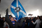 Rangers fans outside Ibrox Stadium